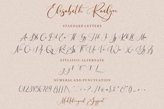 Elisabeth Raelyn font free