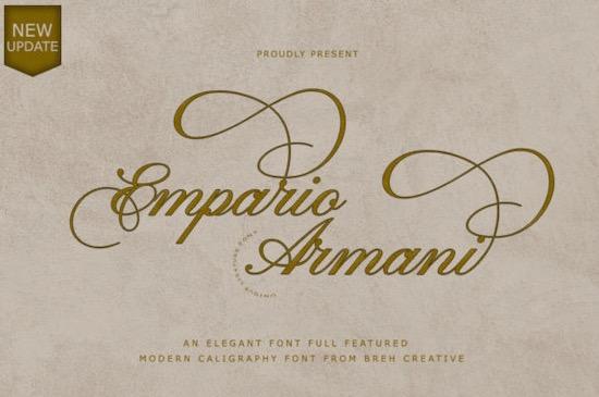 Empario Armani font free dowload