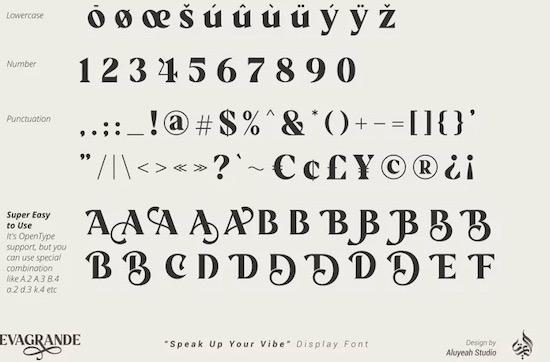 Evagrande font download
