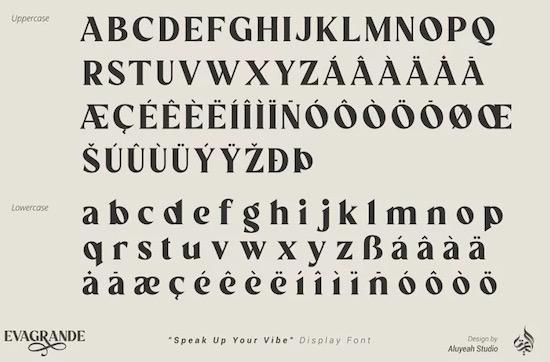 Evagrande font free