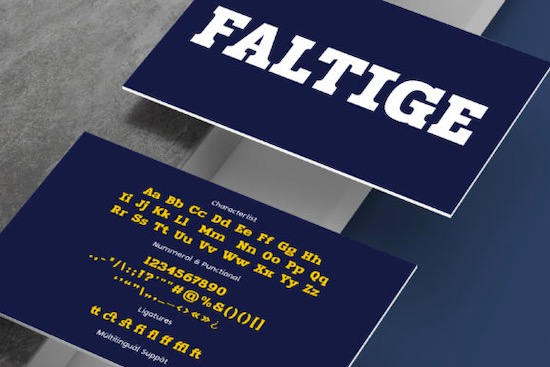 Faltige Font free