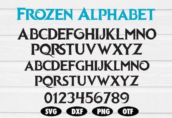 Frozen font download