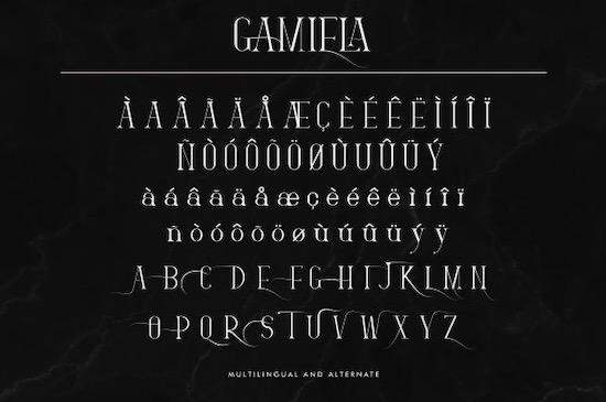 Gamiela font download