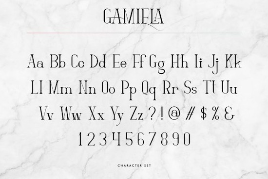 Gamiela font free download