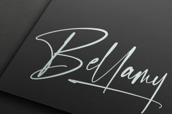 Gantelline Signature font download