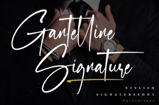 Gantelline Signature font free download