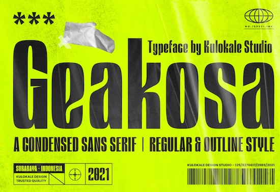 Geakosa font free download