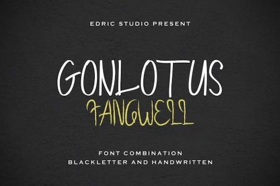 Gonlotus Fangwell font Duo free download