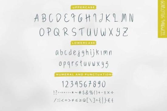 Gonlotus Fangwell font Duo free