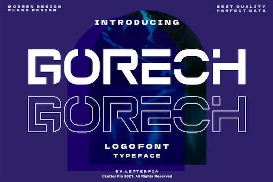 Gorech font free download