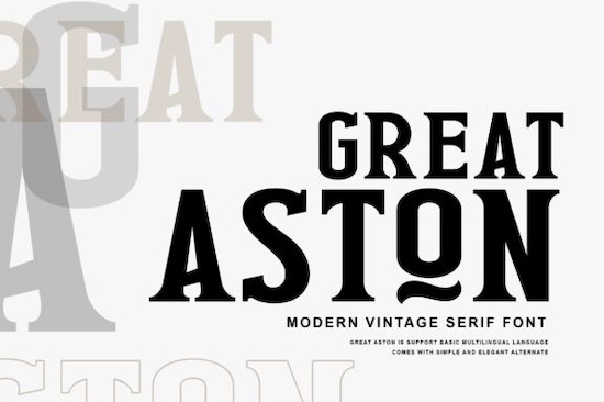 Great Aston font free download