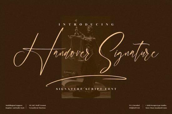 Handover Signature font free download