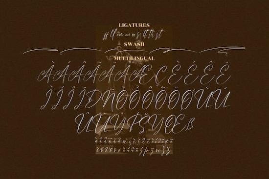 Handover Signature font free
