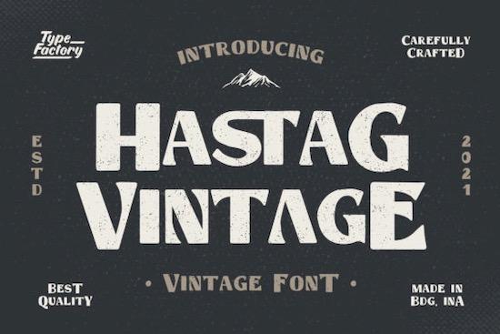 Hastag Vintage font free download