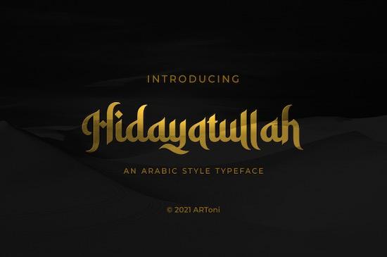 Hidayatullah font download