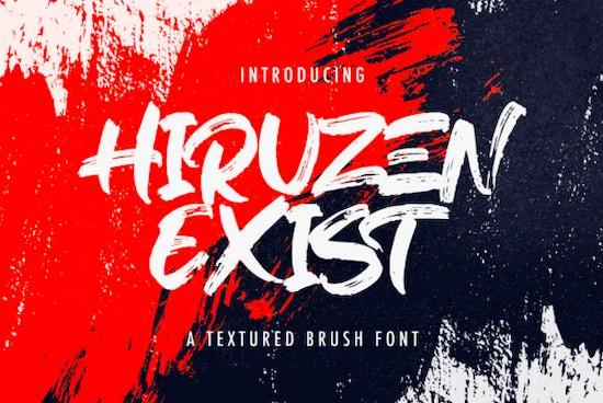 Hiruzen Exists font free download