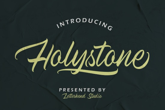 Holystone font free download