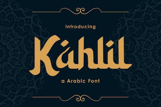 Kahlil font free download