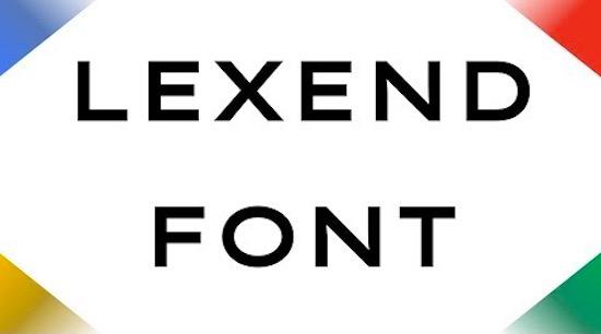Lexend font