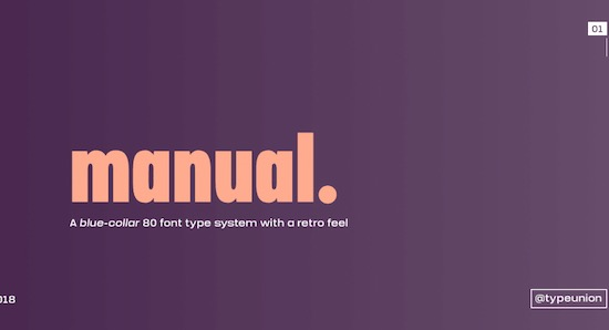 Manual font