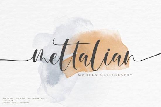 Mettalian font free download