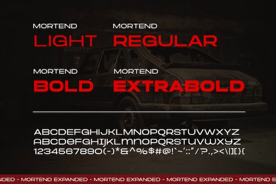 Mortend font download