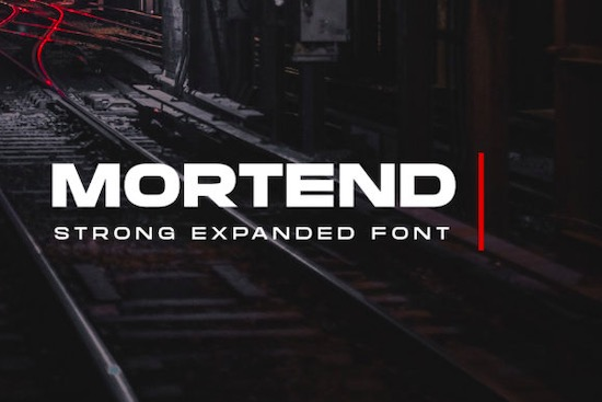 Mortend font free download