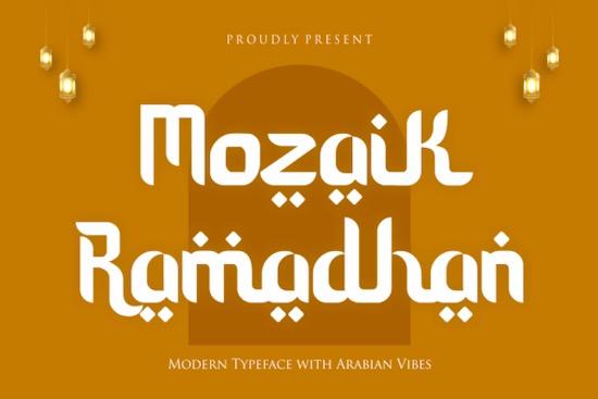 Mozaik Ramadhan font free download