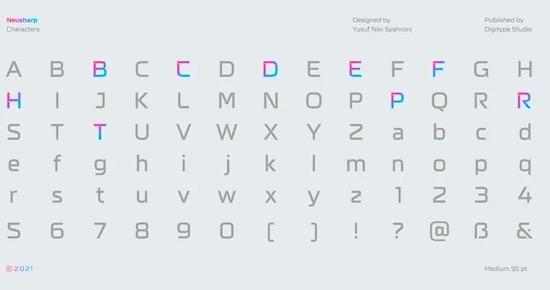 Neusharp font download