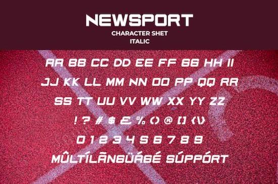 Newsport font download