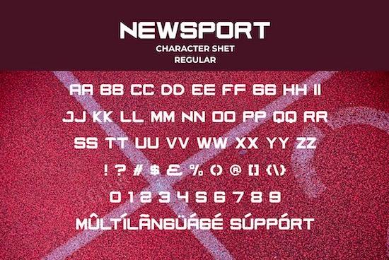 Newsport font free