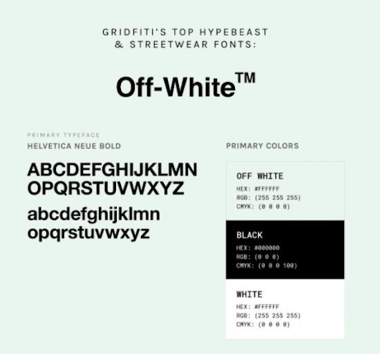 Off White font