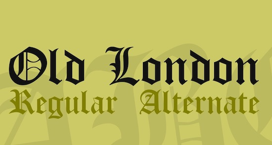 Old London font free
