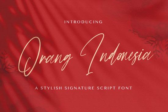 Orang Indonesia font free download
