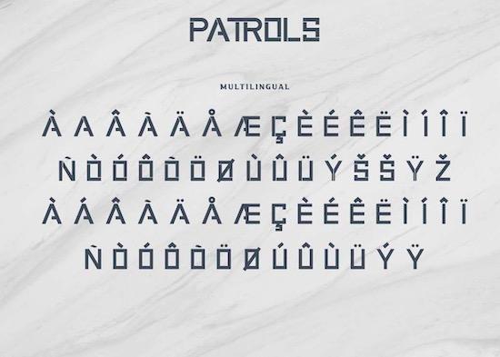 Patrols font download