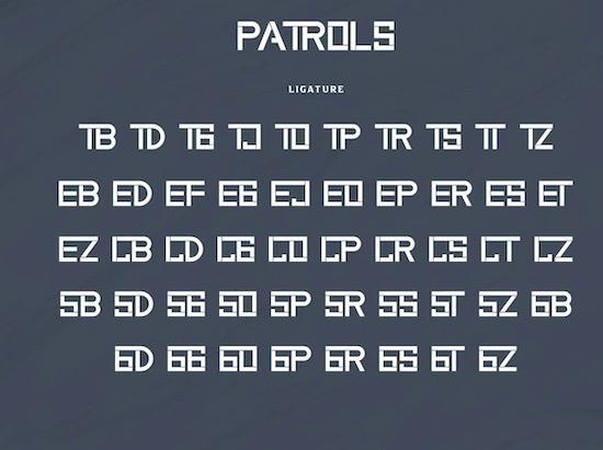 Patrols font free download