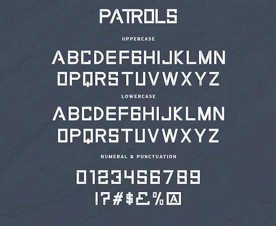 Patrols font free
