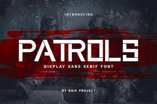 Patrols font