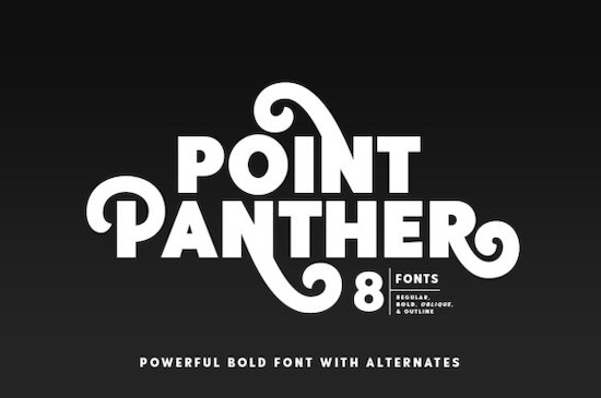 Point Panther font free download
