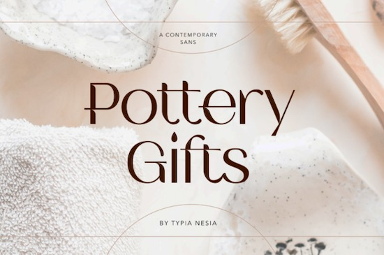 Pottery Gifts font free download