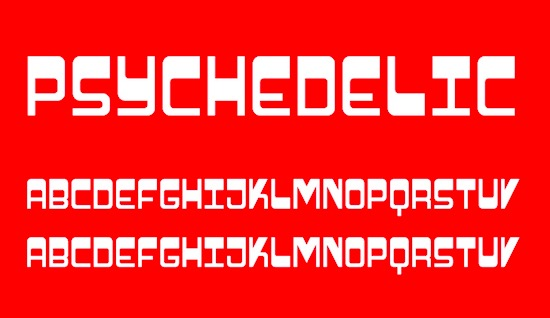 Psychedelic font free