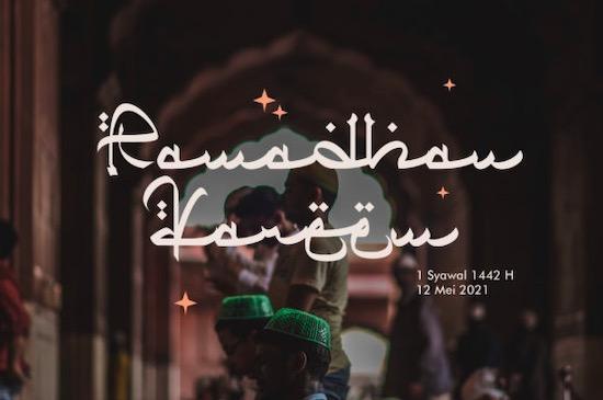 Qiyamu Ramadhan font free