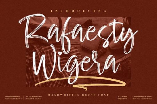 Rafaesty Wigera font free download