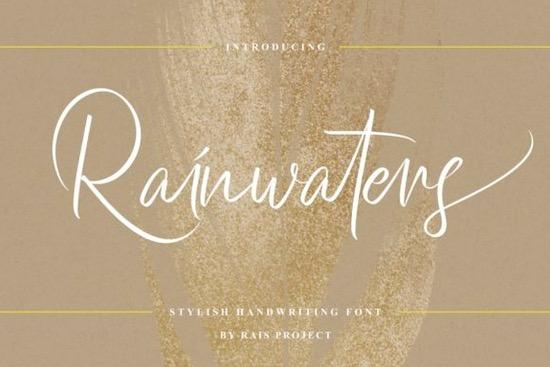 Rainwaters font free download