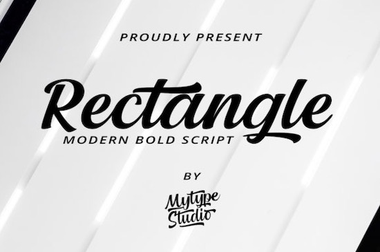 Rectangle font free download