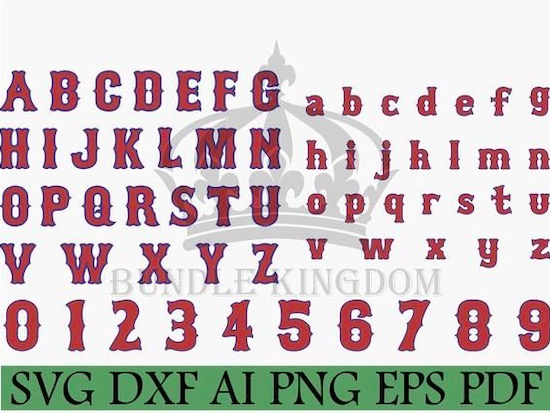 Red Sox font free