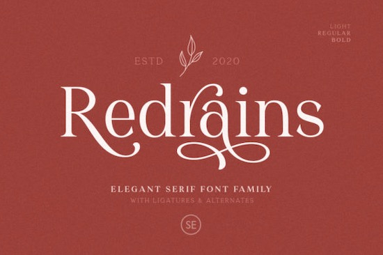 Redrains font free download