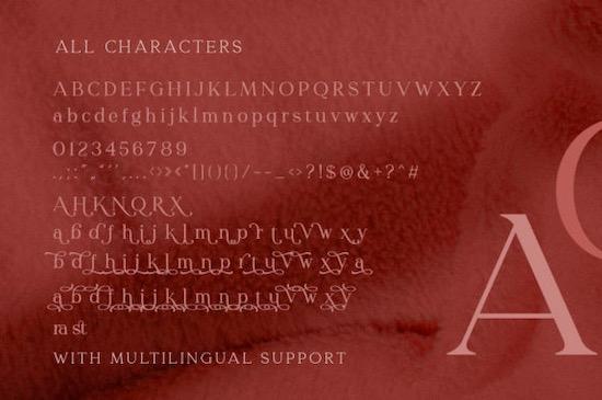 Redrains font