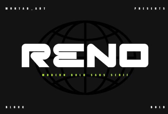 Reno font free download