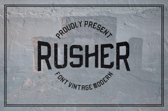 Rusher font free download
